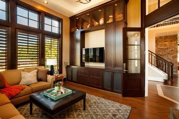 美式风格别墅欣赏书房电视柜