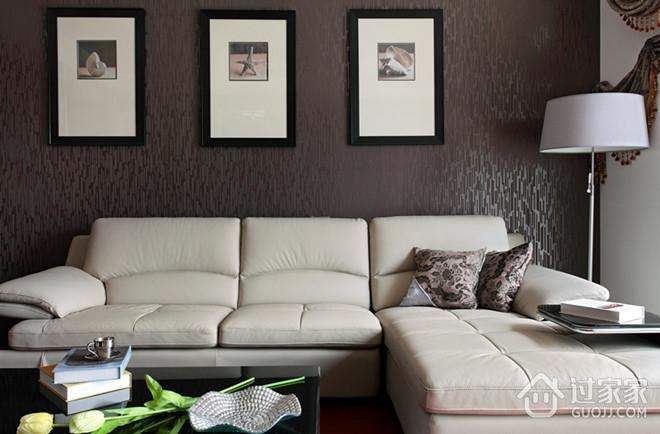 120平简约旋律住宅欣赏客厅