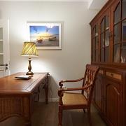 98平美式稳重住宅欣赏书房设计图