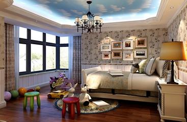 新古典样板房案例欣赏卧室吊顶