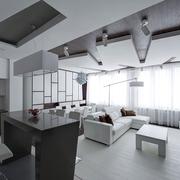 现代全白公寓客厅
