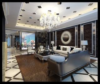 法式风格设计样板房赏析客厅