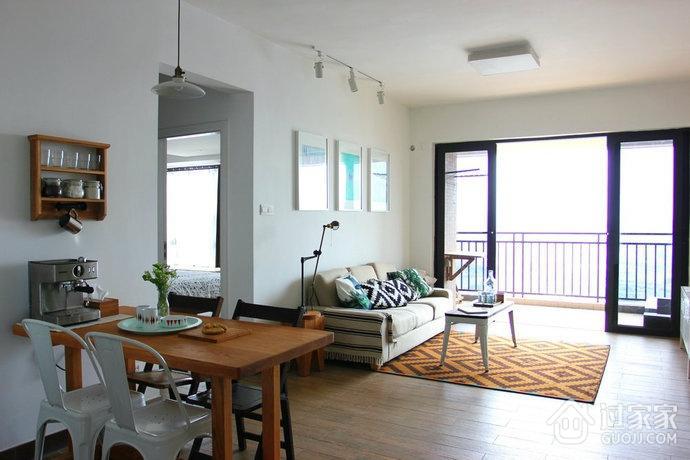 55平白色简约一居室欣赏