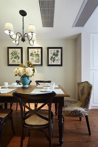 97平美式三居室欣赏餐厅灯饰