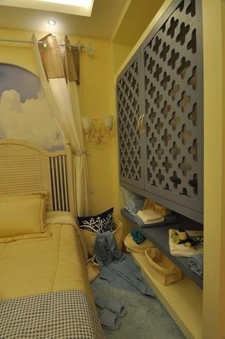 81平田园风格三居室欣赏卧室局部设计