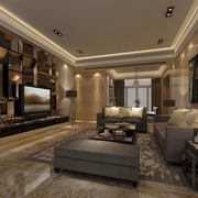 现代风雅致两居室欣赏客厅电视柜