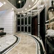 复式欧式风格入户玄关设计