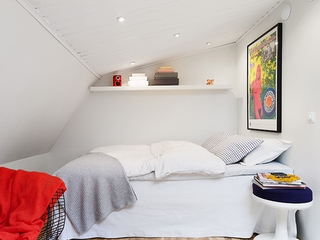 白色宜家极简住宅欣赏卧室