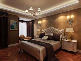 118平简欧三居室案例欣赏卧室灯