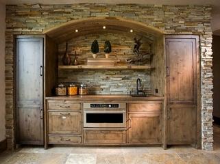 美式温馨度假别墅欣赏厨房效果