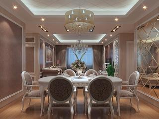 112平欧式风三居室欣赏餐厅餐桌设计