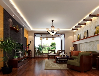 新中式风格复式楼欣赏