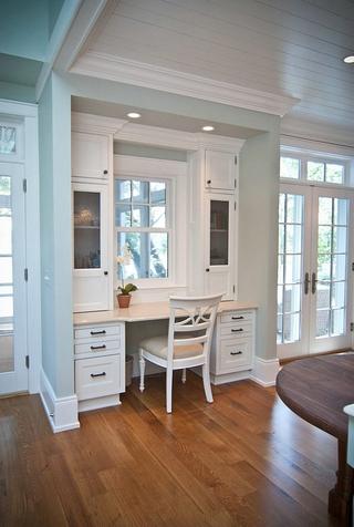 白色美式风四居室欣赏书房窗户