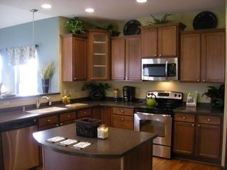简约风格别墅效果图厨台