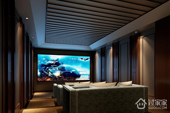 水墨丹青现代风三居室欣赏视听室吊顶