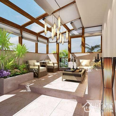露台阳光房主要样式有:一面临墙露台阳光房,二面临墙露台阳光房,三图片