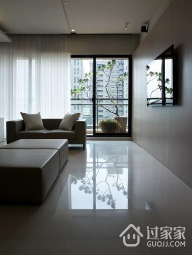 精致现代风格客厅窗户装修