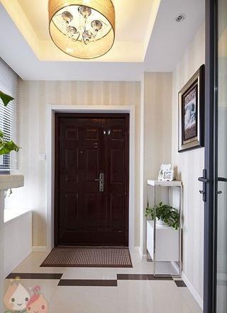 112平白色现代风住宅欣赏玄关吊顶