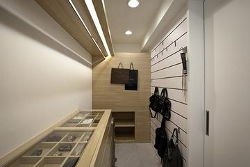 简约白色住宅空间套图衣帽间设计