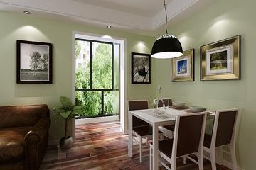 87平简约舒适两居欣赏餐厅窗户