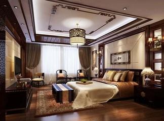 90平简约效果图欣赏卧室吊顶设计