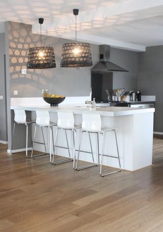 现代黑白灰别墅套图厨房设计