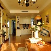唯美温馨简欧两居室欣赏客厅效果
