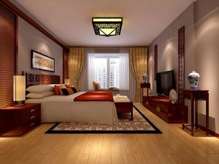 规整新中式两居室欣赏卧室灯饰