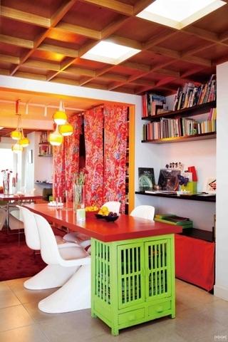 50平彩色混搭三居室欣赏