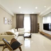 木色简约分住宅欣客厅全景