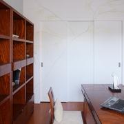现代中式效果书房效果