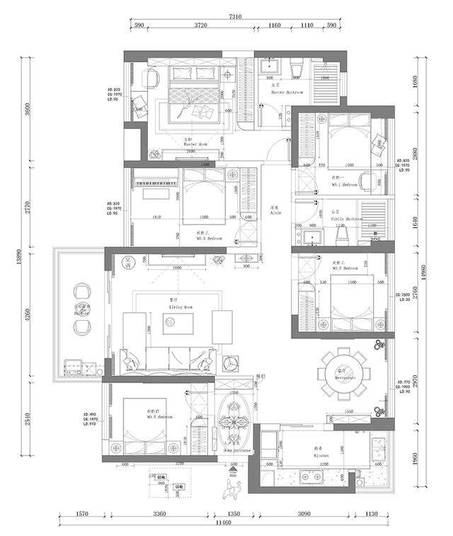 【走进臻品家第5期】西荟城138平竟装出四居室 时尚现代风
