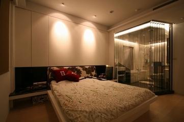112平简约三居室案例欣赏卧室背景墙