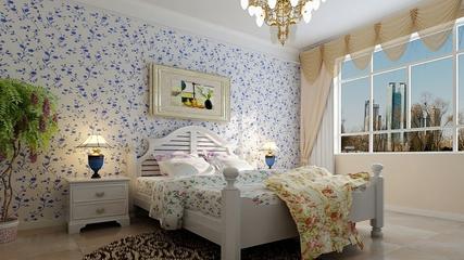 淡雅现代风住宅欣赏卧室背景墙