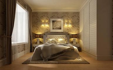 简欧风尚三居室欣赏卧室背景墙
