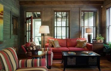 田园风格效果图家庭厅