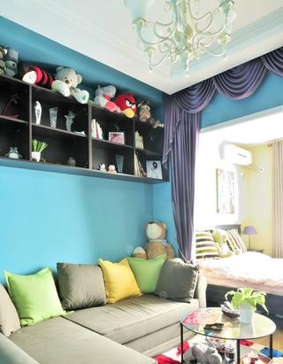 蓝色格调小户型婚房欣赏