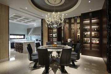 东方气质新古典住宅欣赏餐厅设计