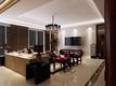 中式客厅白色电视墙效果图