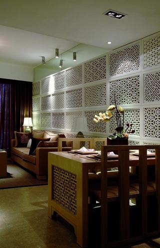 沙发背景墙与客厅一角