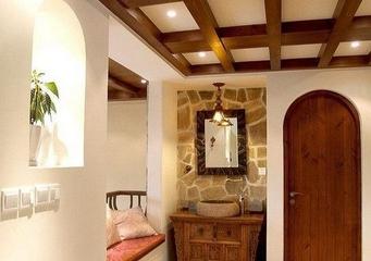木质混搭小屋欣赏洗手间