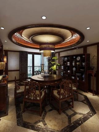 咖啡色中式住宅欣赏餐厅设计