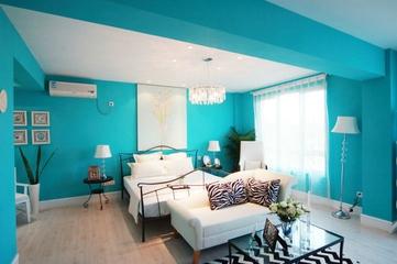 98平蓝色地中海住宅欣赏卧室效果