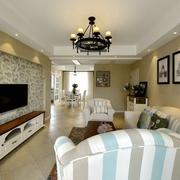 小清新客厅灯饰设计 简单又时尚