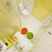 清爽30平小户型设计欣赏卫生间全景