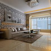 简约风格客厅灯饰装修图 精致靓丽