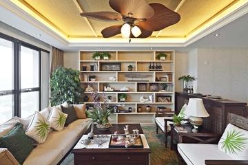东南亚风格住宅客厅背景
