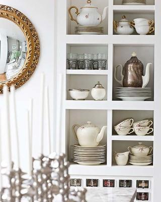白色舒适北欧复式欣赏厨房局部