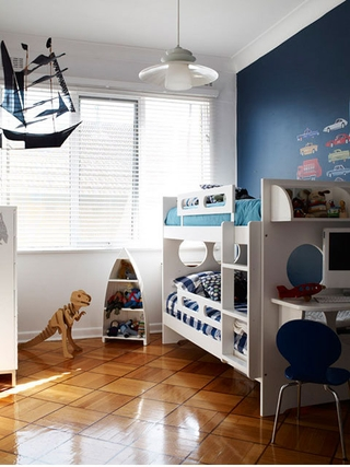 白色宜家风格住宅欣赏儿童房