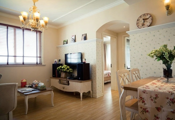 白色田园风住宅欣赏客厅